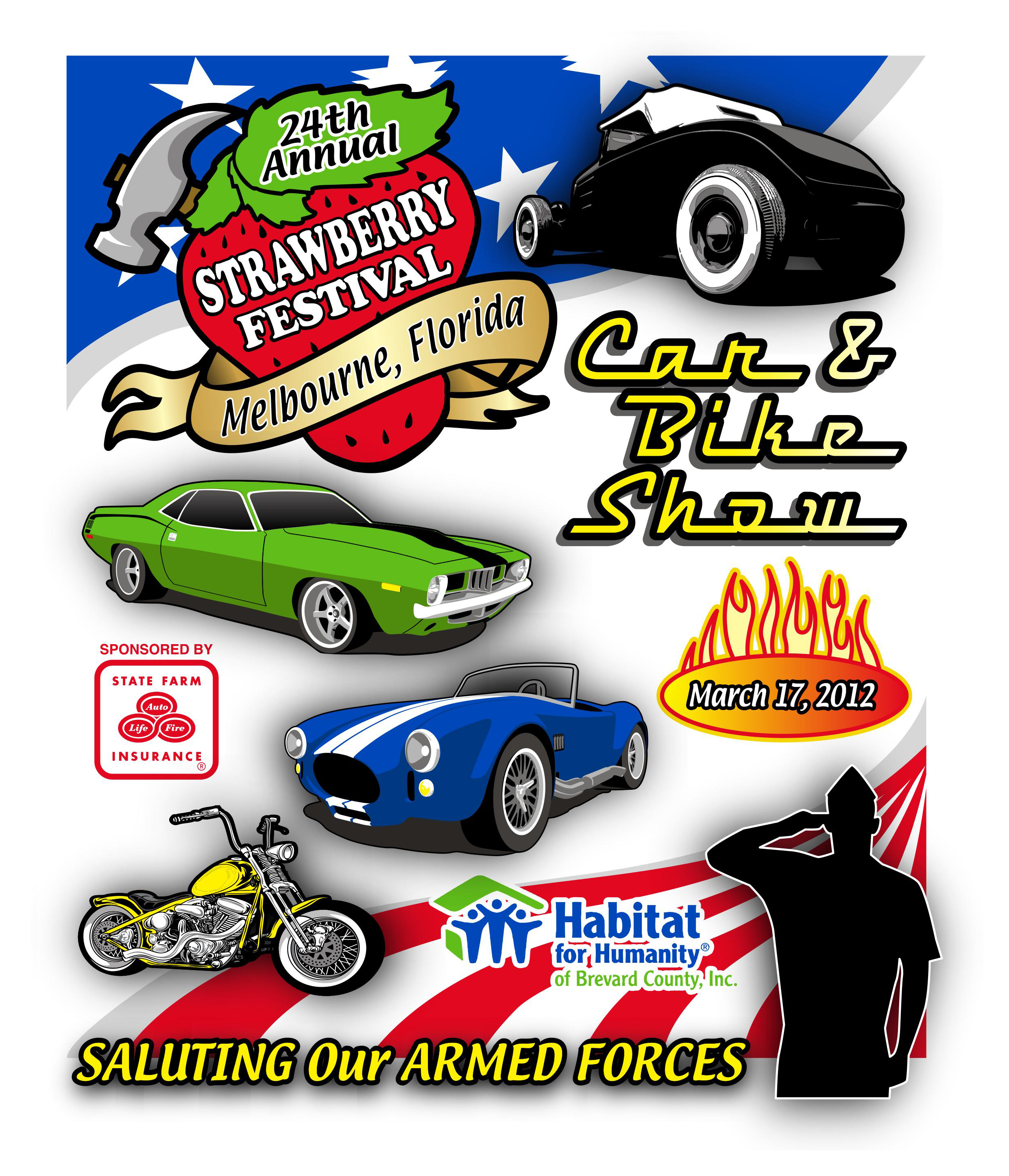 Strawberry Fest Car Show Tee By ArtLab Artlab - Wickham park car show melbourne fl