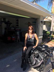 Sherri on her 2014 Harley Sportster